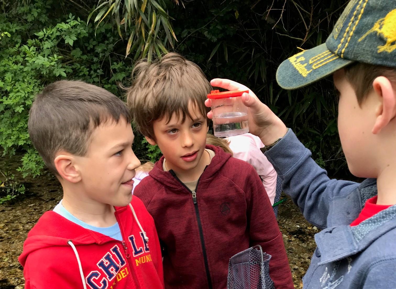 Young scientists explore Springhead's wildlife